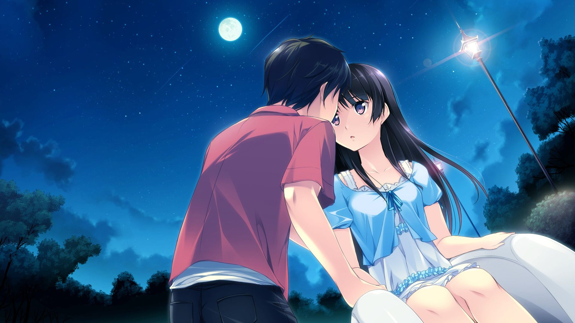 Animated Love couple Hd Wallpaper : Download Valentines Anime Wallpaper 1920x1080 Full HD ...