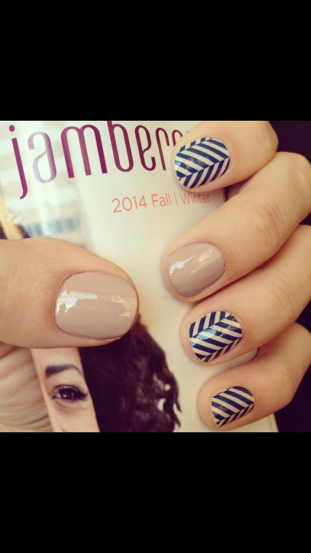 Jamberry Blue Herringbone With Nude Nails Order At Jelmo