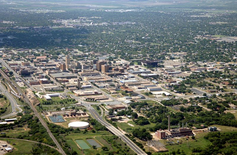 Downtown Abilene Tx This Is Where I Graduated College It Really Does Sprawl I Just Wish The Bugs Died Once A Year But Aerial Aerial View The Great Outdoors