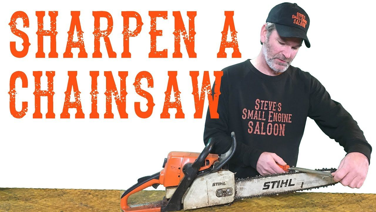 Correct way to sharpen a chainsaw video youtube in