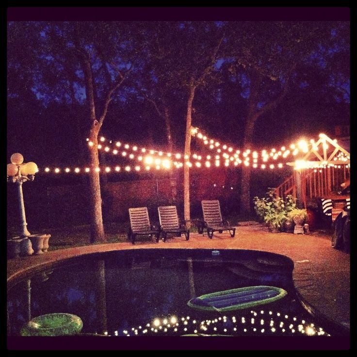 Ideas For Backyard Parties: Backyard Party Lights.