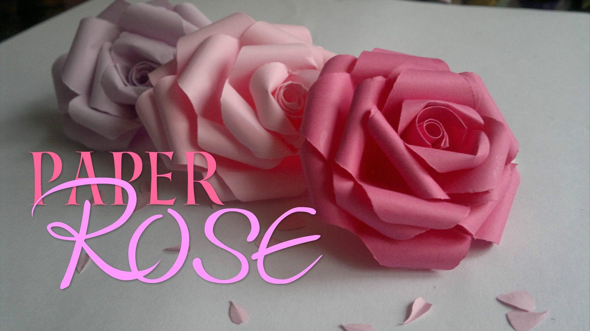 DIY Paper Rose  Enn La Rush  flores de papel  Pinterest  Diy