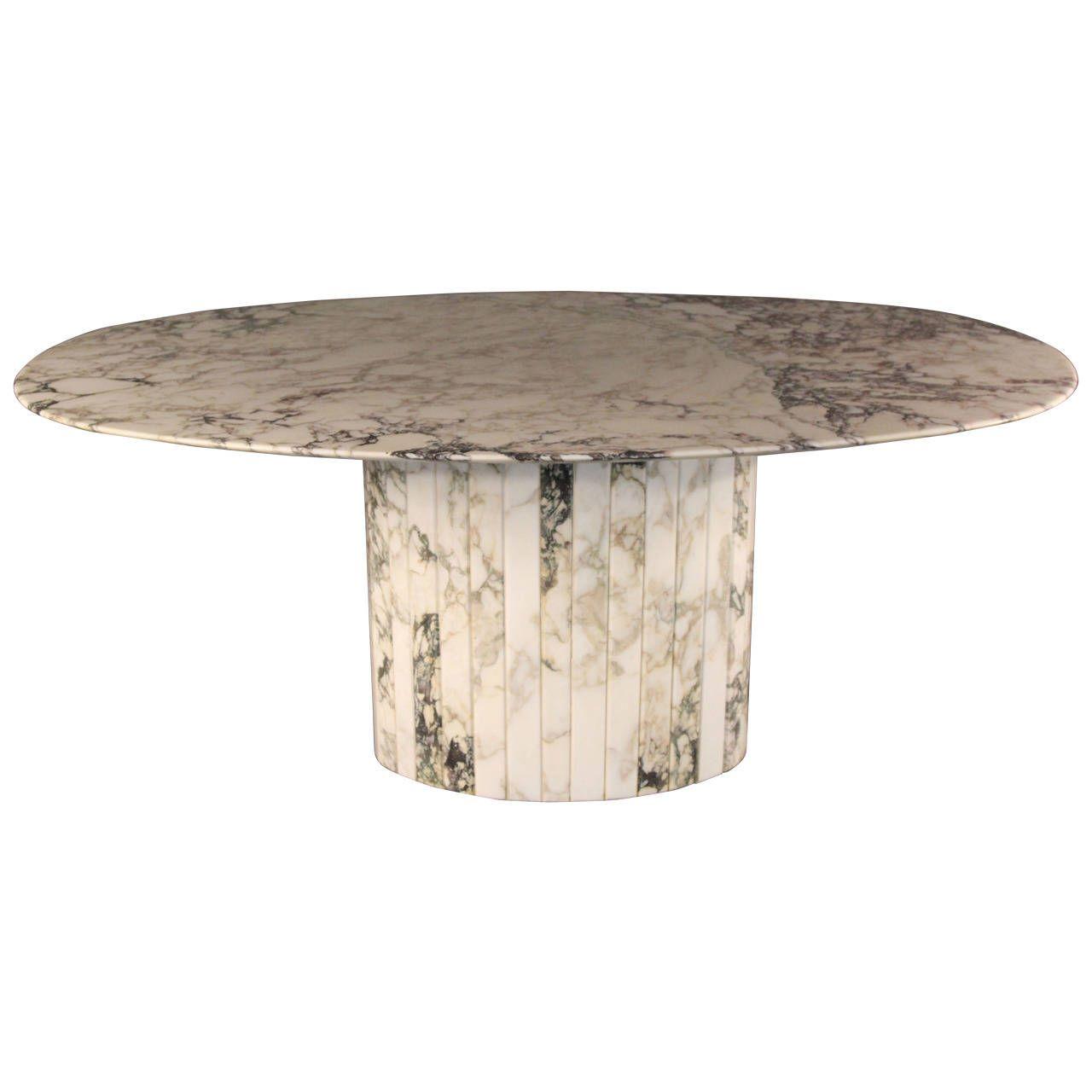 Gorgeous Carrara Marble Oval Dining Table Italian 1stdibs Com