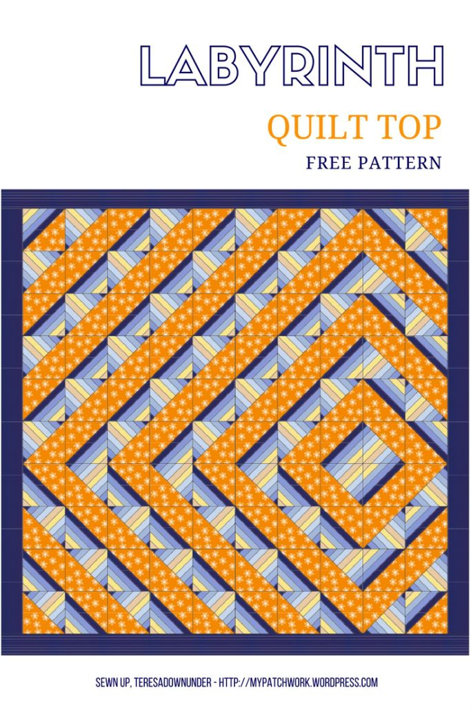 Labyrinth Quilt Free Pattern Download Sewn Up Teresadownunder