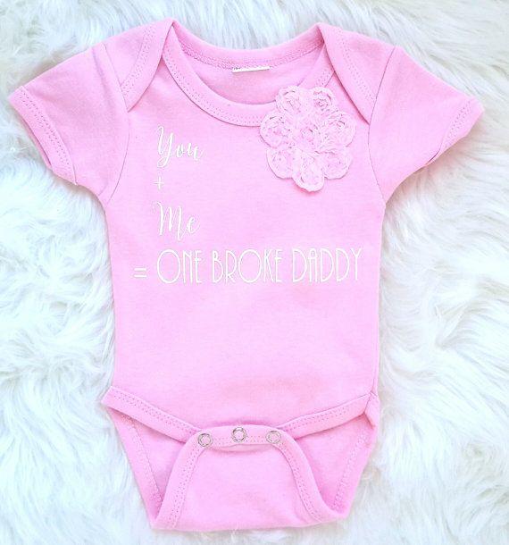 Pink onesie/pink crawler/funny onesie/baby by bibitibobitiboutique