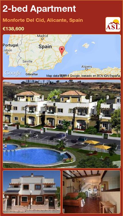 2bed Apartment in Monforte Del Cid, Alicante, Spain Save