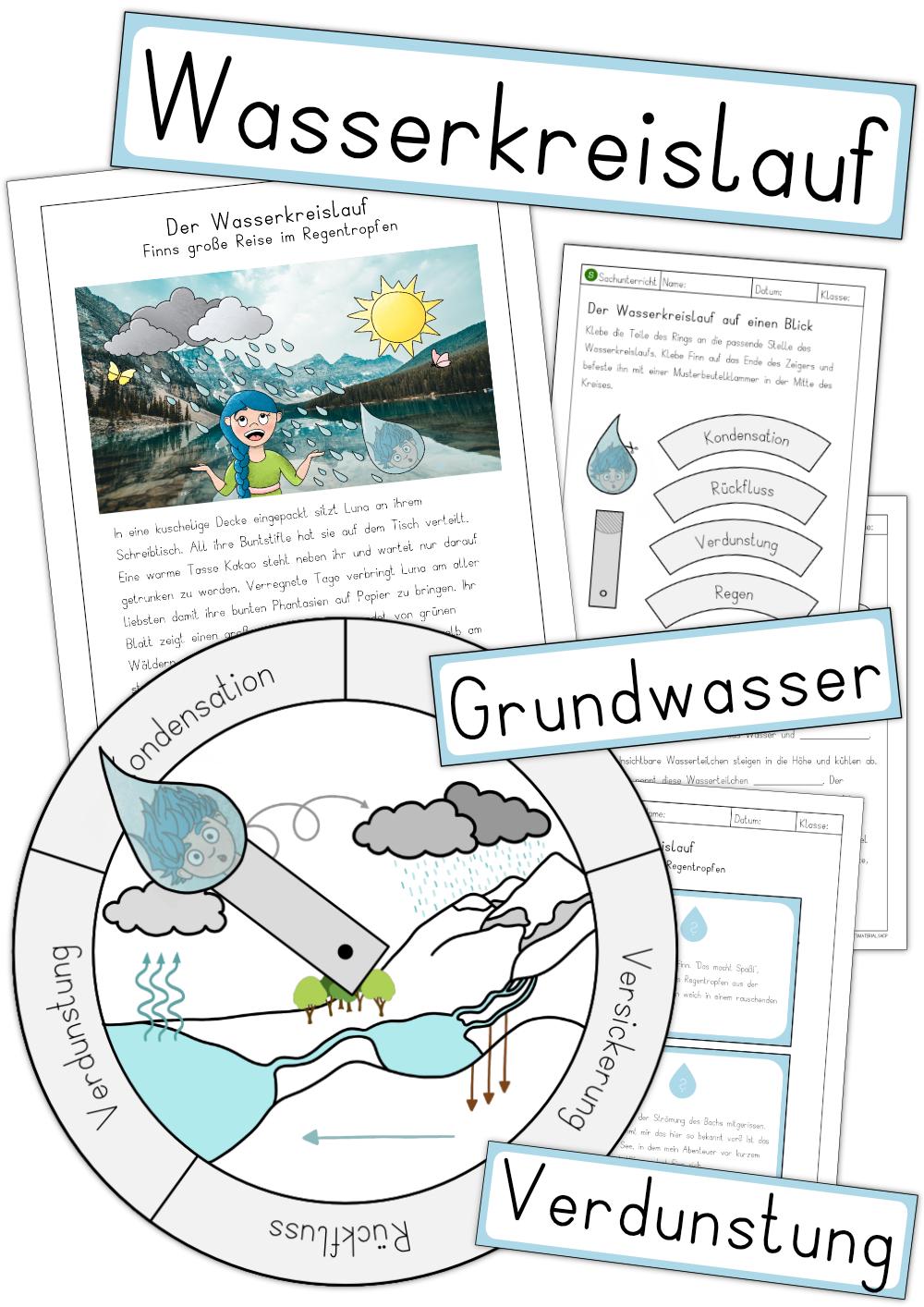 Wasserkreislauf   Großes Materialpaket – Unterrichtsmaterial im ...