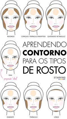 026c9a120feb1 Contorno facial  evidencie os melhores traços do rosto com maquiagem