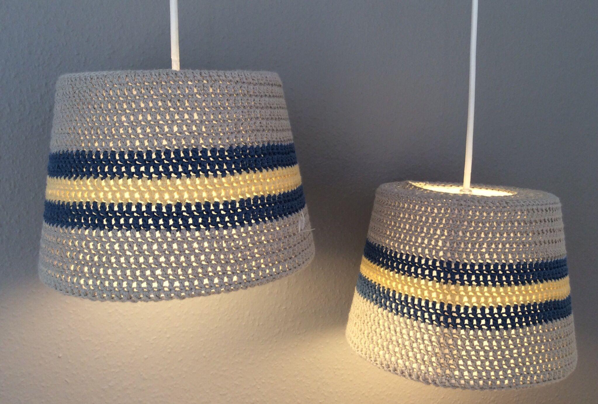 Hæklede lamper - gratis opskrift