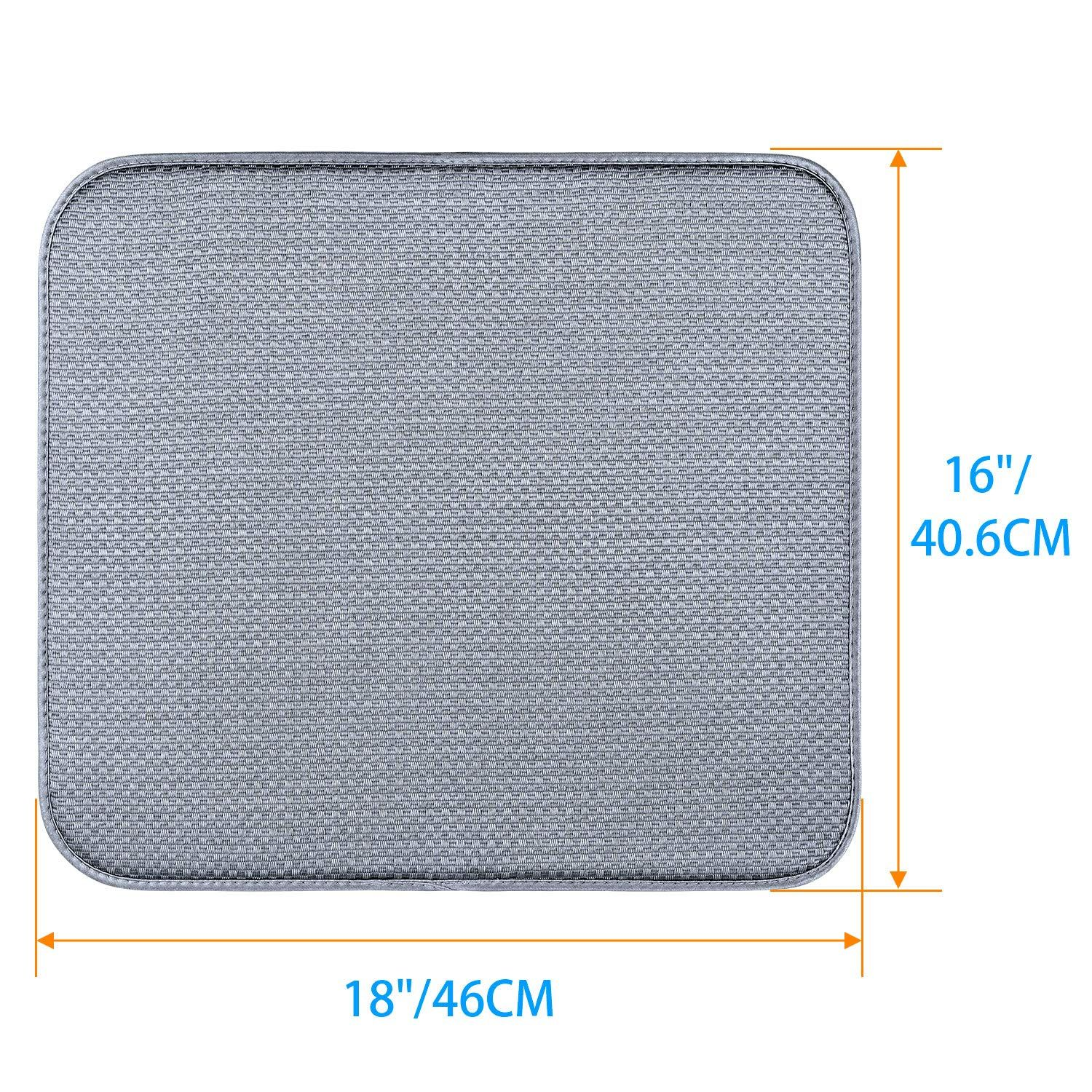 Pack Drying Kitchen Microfiber Counter Dish Rack Drying Dish Drying Mat Microfiber