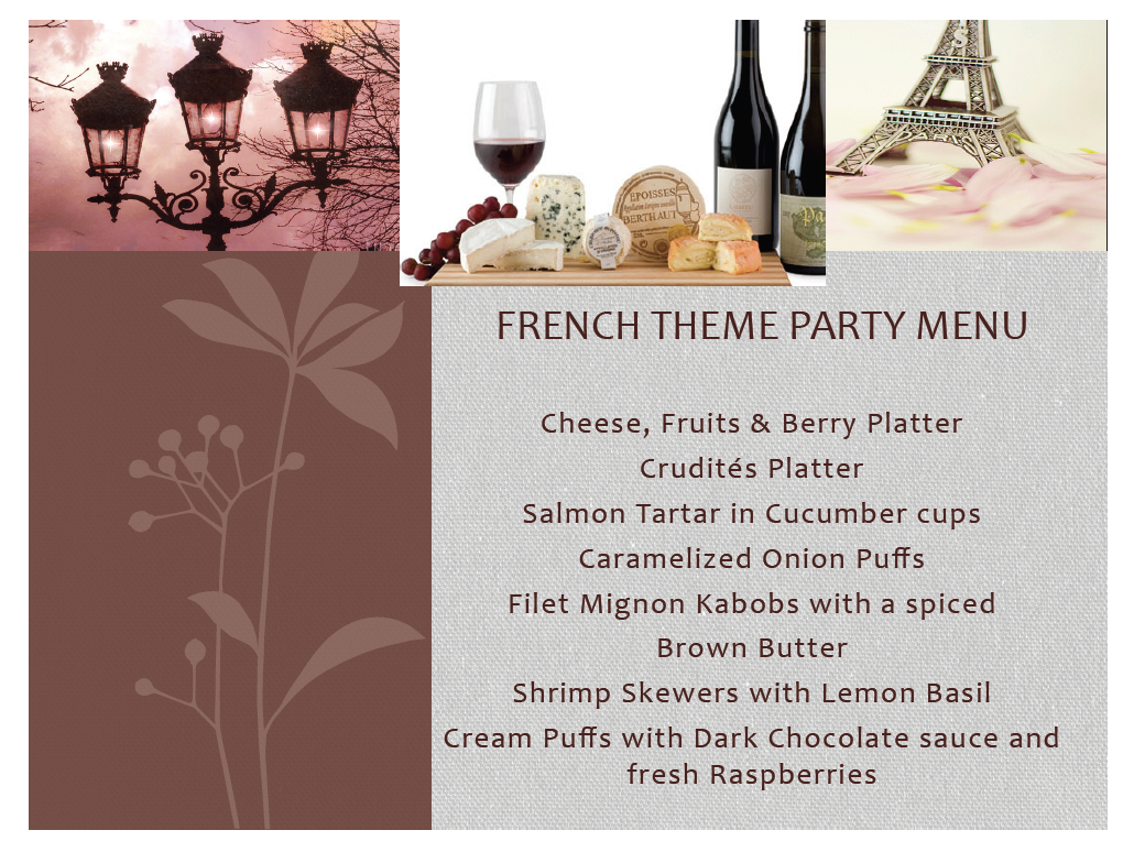 Dinner Party Themes And Menus Part - 18: French Themed Dinner Party - Google Search