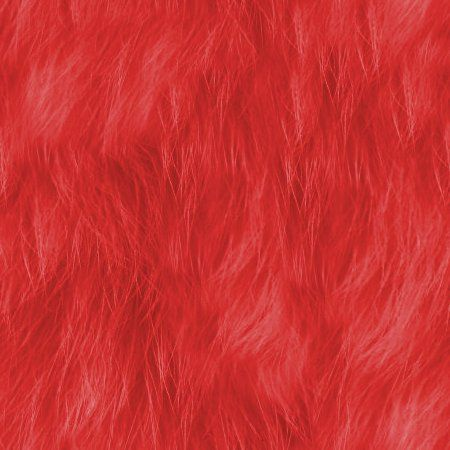 Red Faux Fur Seamless Background Texture Pattern