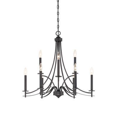 Awesome Designers Fountain Cassina 9 Light Candle Style Chandelier Finish: Biscayne  Bronze Photo