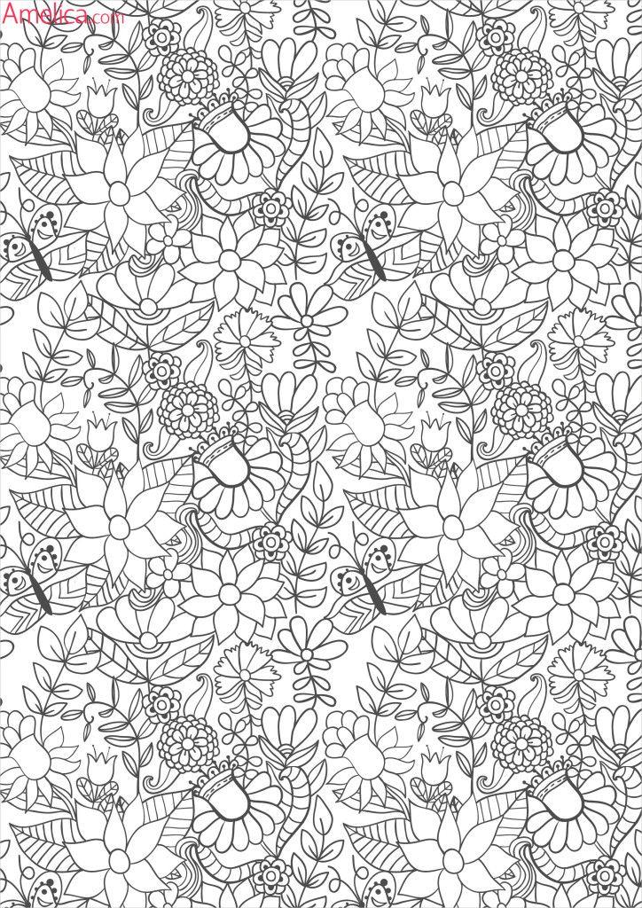 раскраски взрослые волшебный сад зачарованный лес