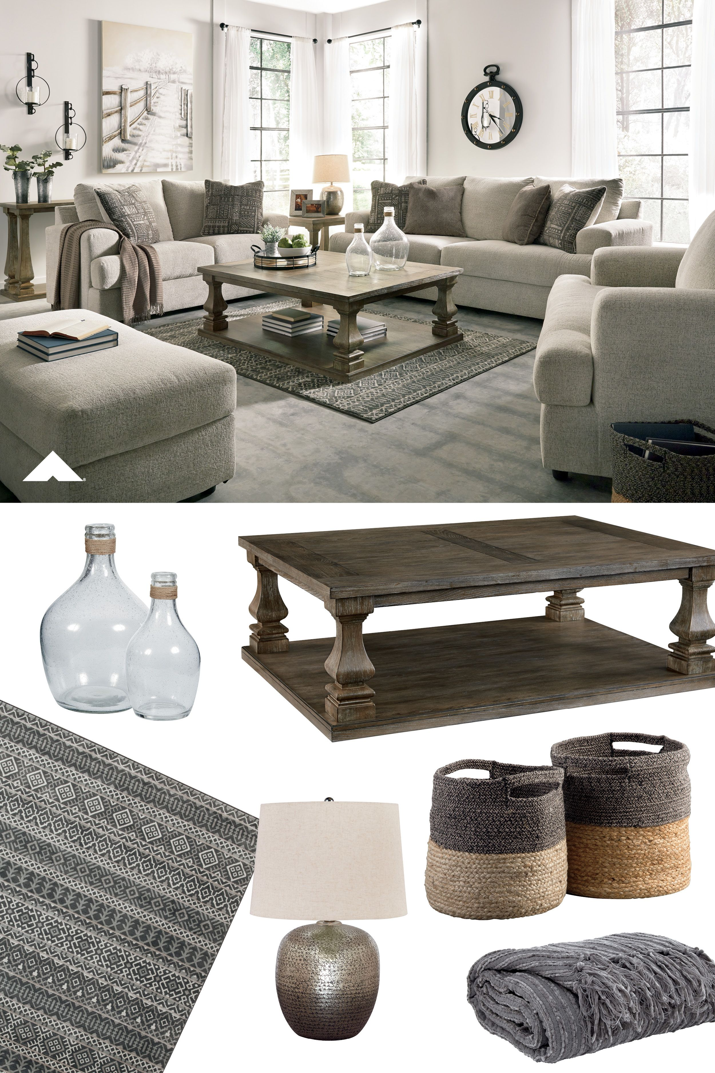 Soletren Stone Living Room Group Flaunting A Trendsetting Silhouette The Soletren Sofa Puts The Contemporary In Y Living Room Living Room Decor Deep Seating