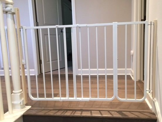 Top Of Stair Baby Gate For Wide Opening Using No Holes