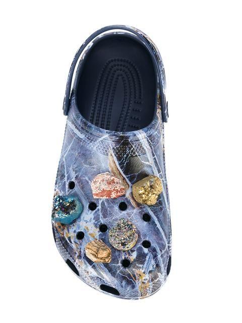 59f23160ece14 Shop Christopher Kane stone embellished Crocs clog.