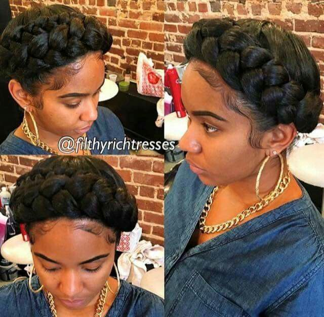 Halo braid (With images) Natural hair styles Wedding hairstyles for long hair Black