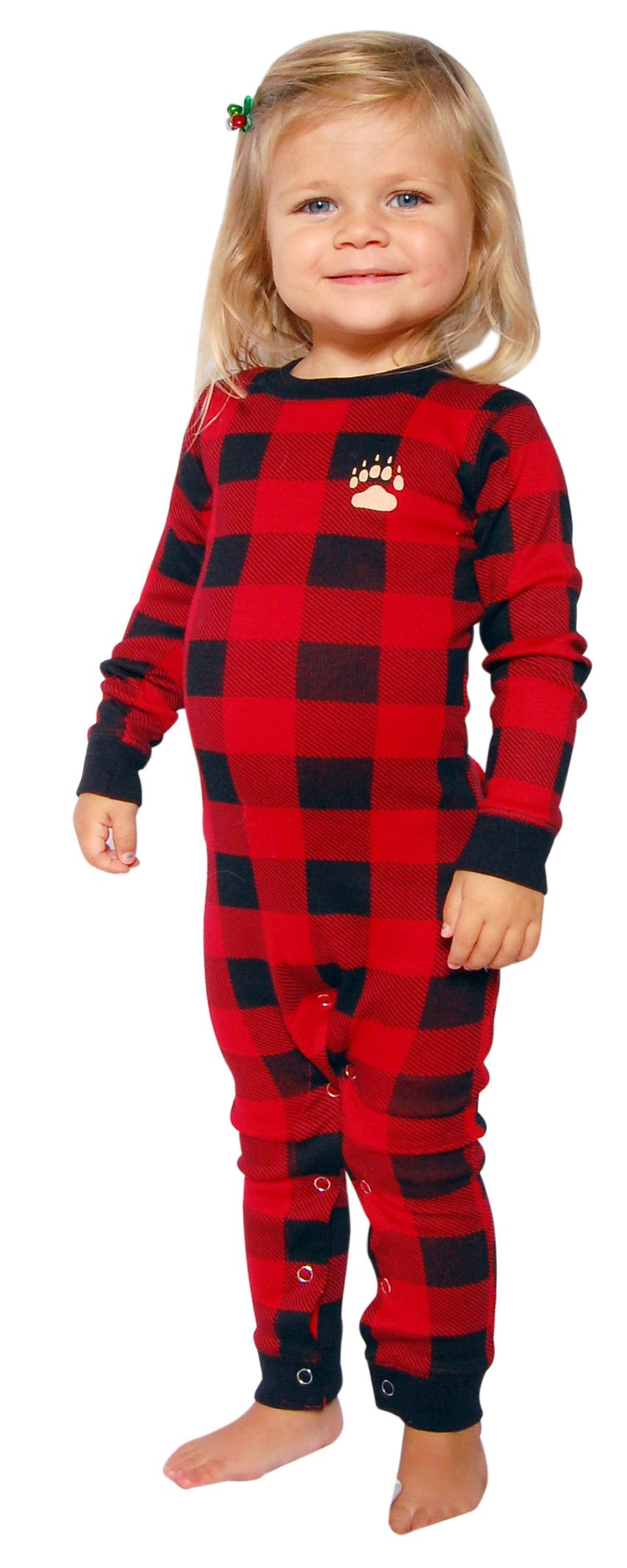 Matching Christmas pajamas LazyOne Bear Cheeks Flapjacks