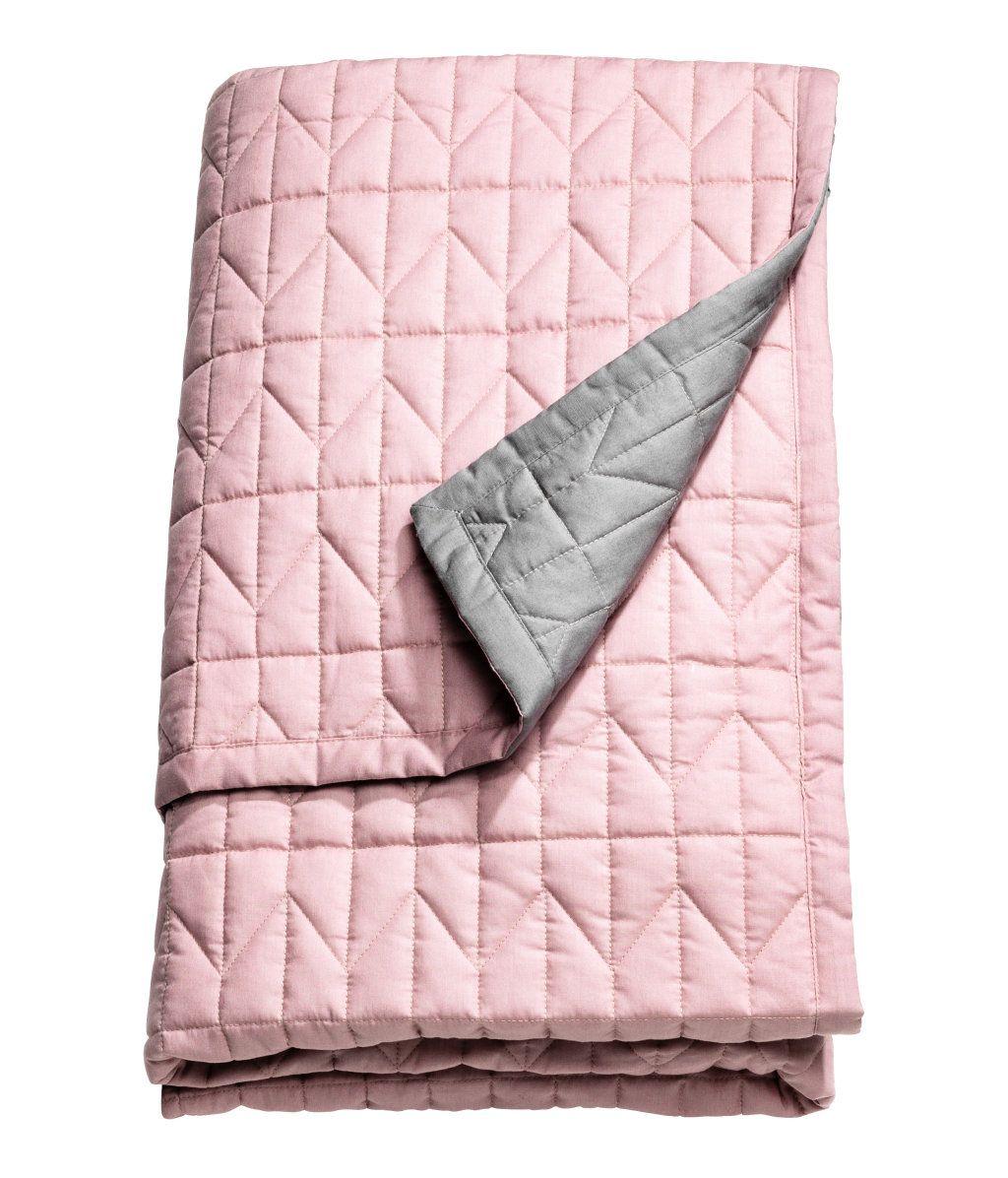 Rosa Grau Gesteppte Tagesdecke Aus Baumwolle Fur Ein Doppelbett Polyesterfullung Tagesdecke Rosa Tagesdecke Grau Bettwasche Pink