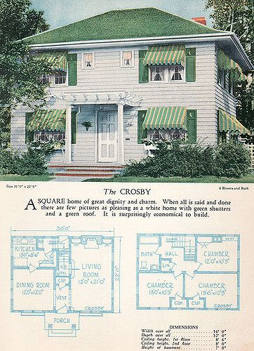 1928 Home Builders Catalog The Crosby Craftsman Style House Plans House Plans With Pictures Vintage House Plans