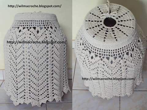 closet for crocheted napkin: غطاء جرة الغاز بالكروشية أحلى
