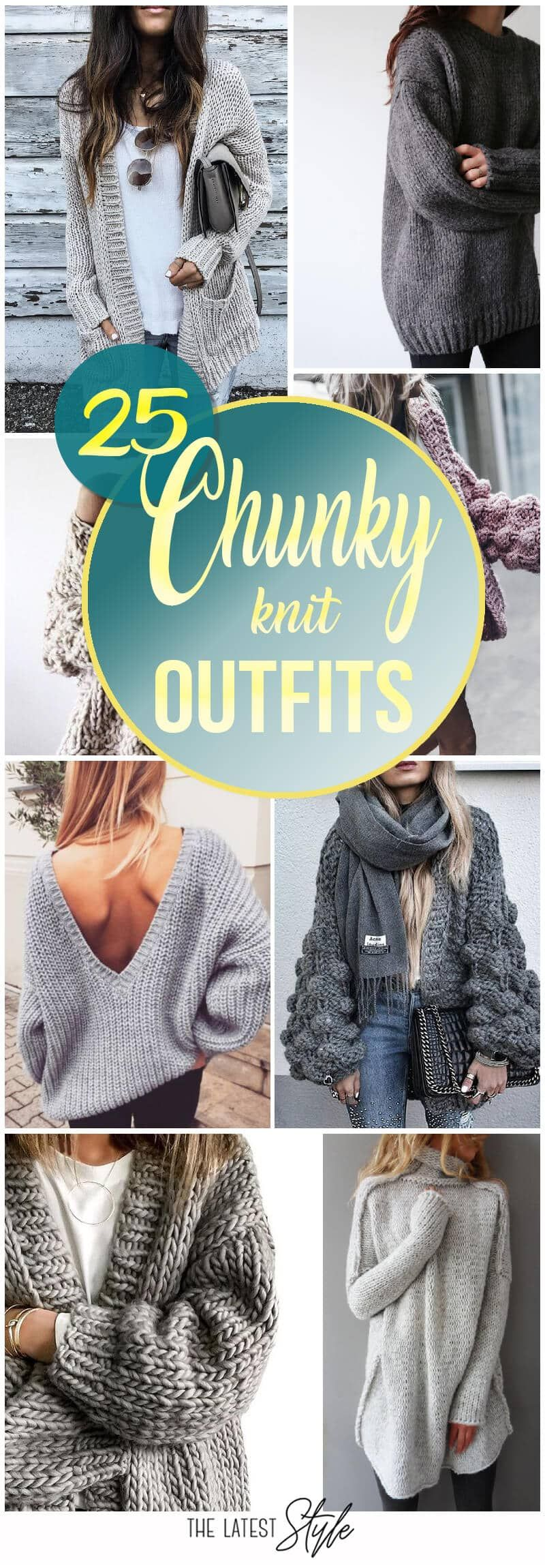 Photo of 25 Chunky Knit Sweater Outfits For The Holidays