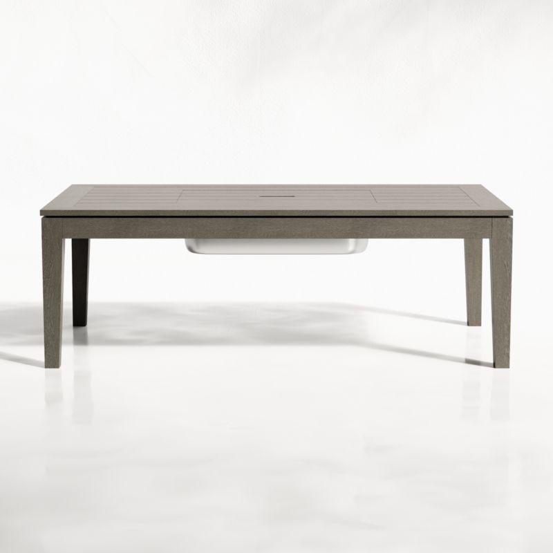 Regatta Grey Wash Coffee Table With Drink Bin In 2020 Furniture Covers Grey Wash Crate Barrel