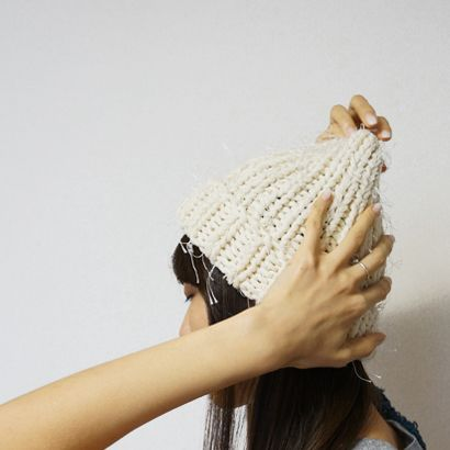 chocoshoe online store / ひのきのニット帽 もけもけ