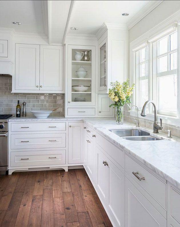 Las 50 cocinas blancas modernas más bonitas | COCINA | White kitchen ...