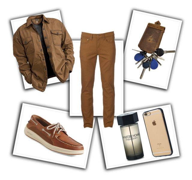 """""""Untitled #142"""" by anaflores7822 on Polyvore featuring Urban Pipeline, Sperry, Incase, Yves Saint Laurent, men's fashion and menswear"""