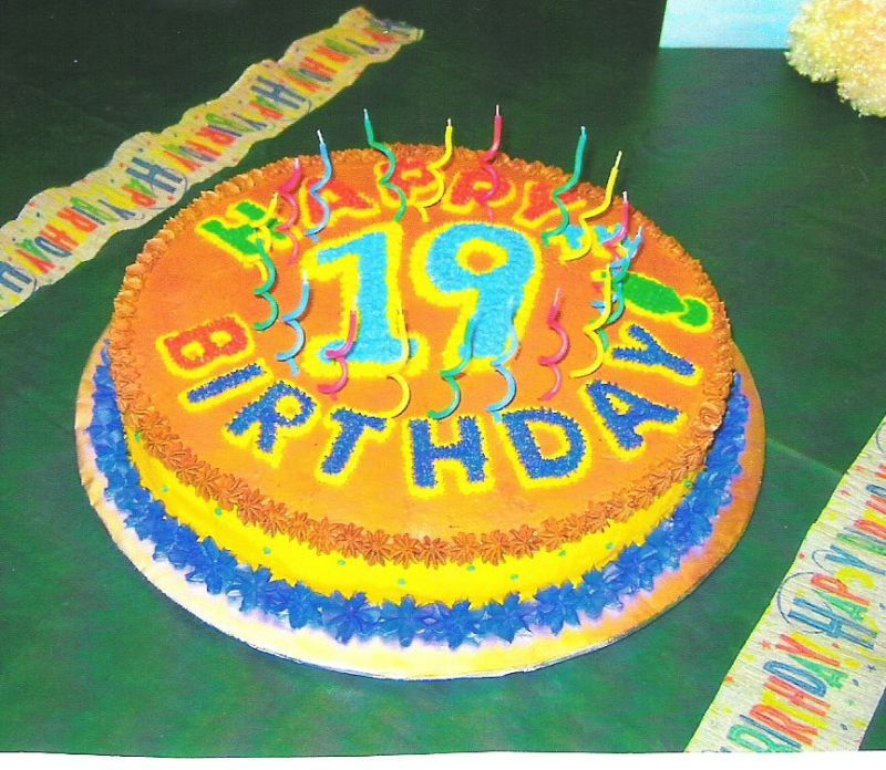 19th birthday cake sweet things Pinterest 19th birthday