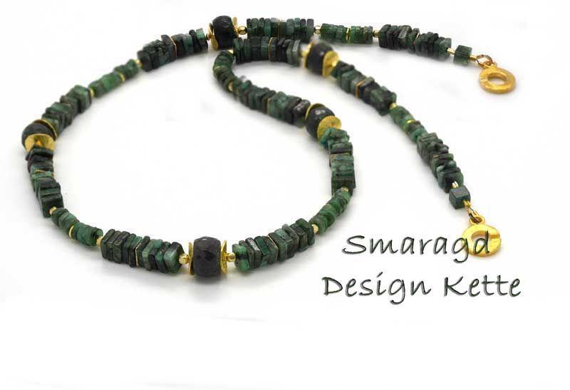 traumkette edelsteinschmuck smaragd handcrafted gem. Black Bedroom Furniture Sets. Home Design Ideas