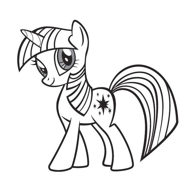 Little poney twilight sparkle little pony pinterest - Coloriage poney ...