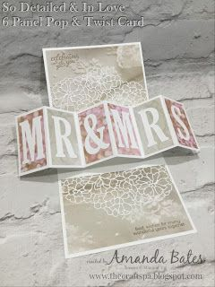 The Craft Spa - Stampin' Up! UK independent demonstrator : So Detailed & Falling In Love Six Panel Pop & Twis...