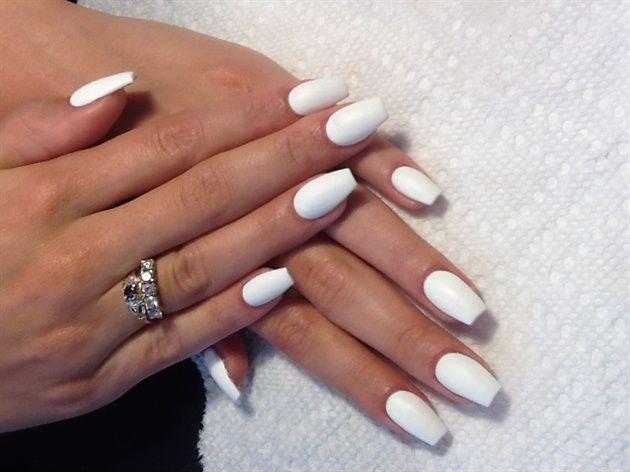 Square Stilettos By Alysnails Nail Art White Acrylic Nails