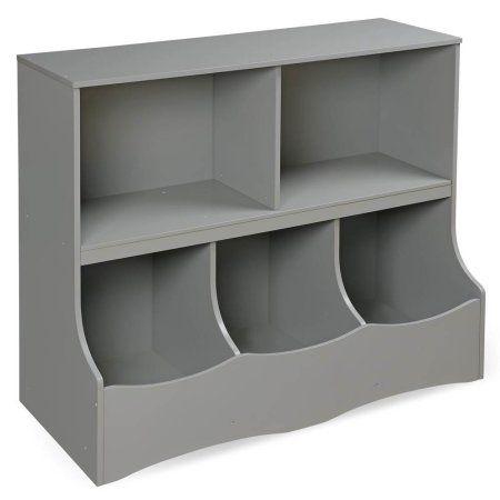 Badger Basket Multi Bin Storage Cubby, Gray