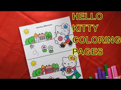 Color Learning Construction Youtube Hello Kitty Colouring Pages Hello Kitty Coloring Kitty Coloring