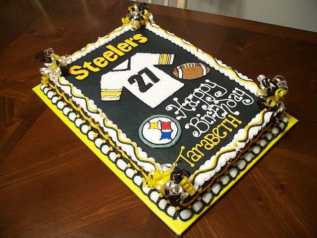 Steelers Birthday Cake Birthday Cakes Birthdays And Cake - Football cakes for birthdays