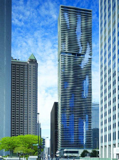 the Aqua Tower, Chicago, IL