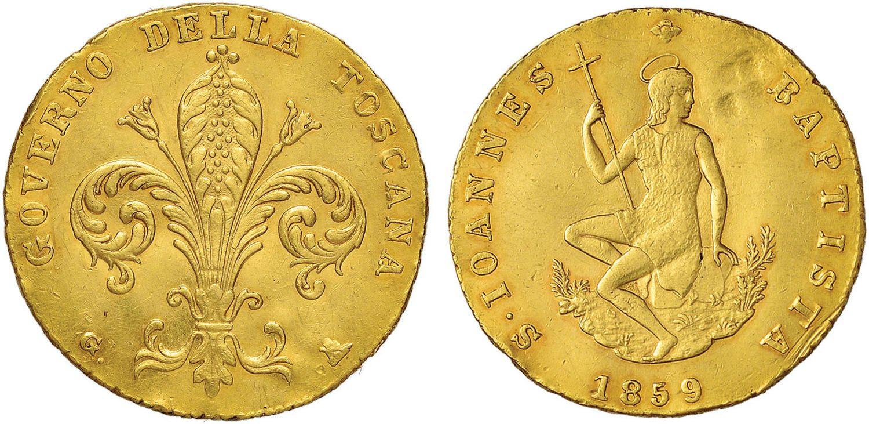 NumisBids: Nomisma Spa Auction 50, Lot 97 : FIRENZE Governo Provvisorio (1859-1860) Ruspone 1859 – Pag. 227;...