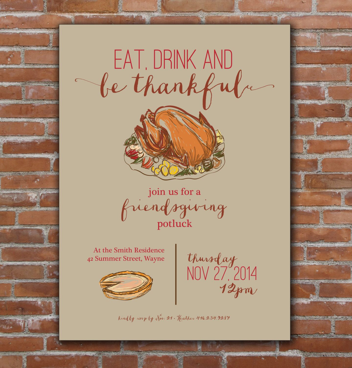 Thanksgiving, Friendsgiving Invitation