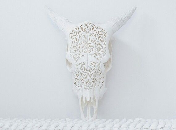 Lace Carved Skull