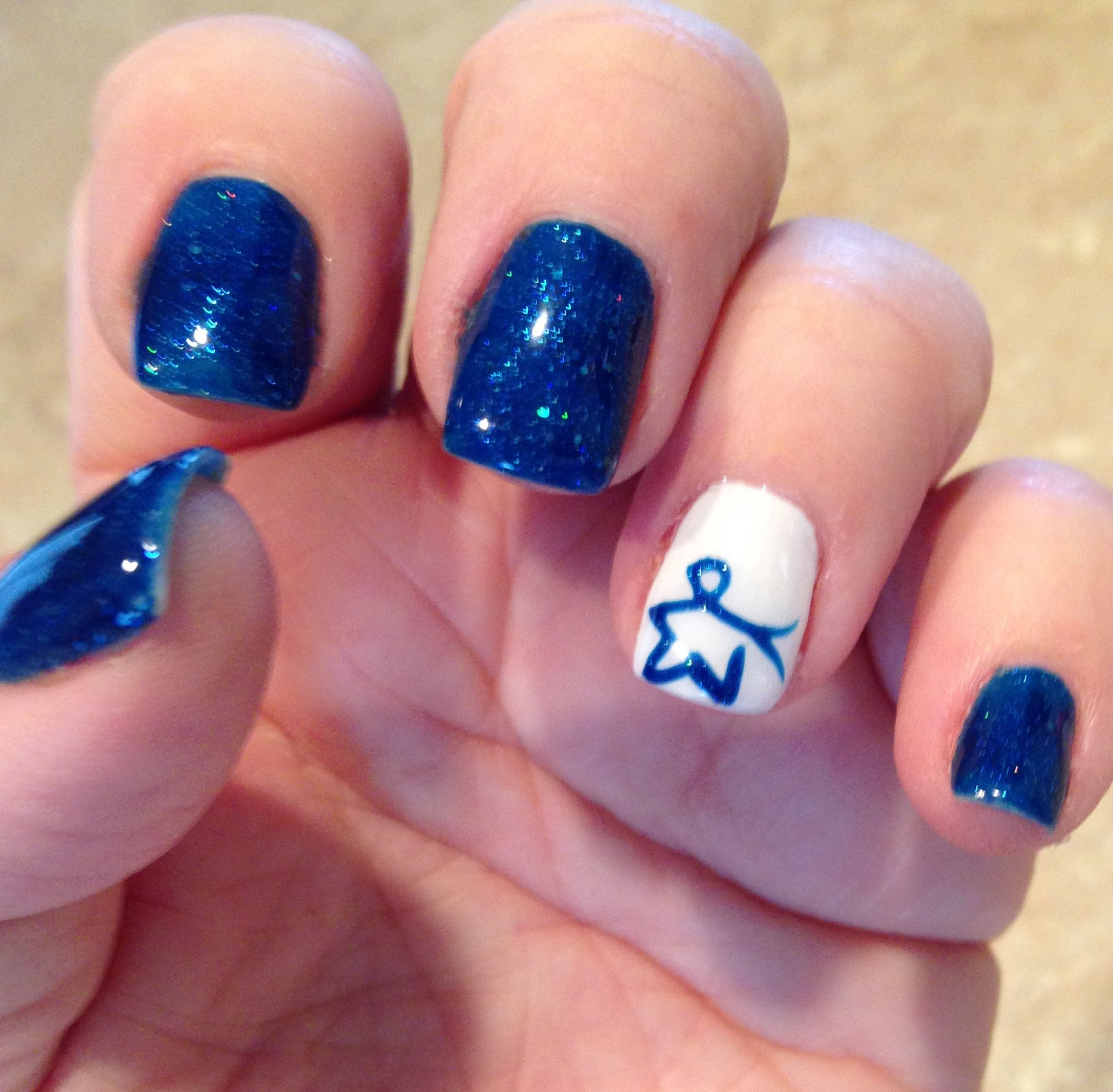 March is Colon Cancer Awareness Month. | Creative Nail Ideas ...