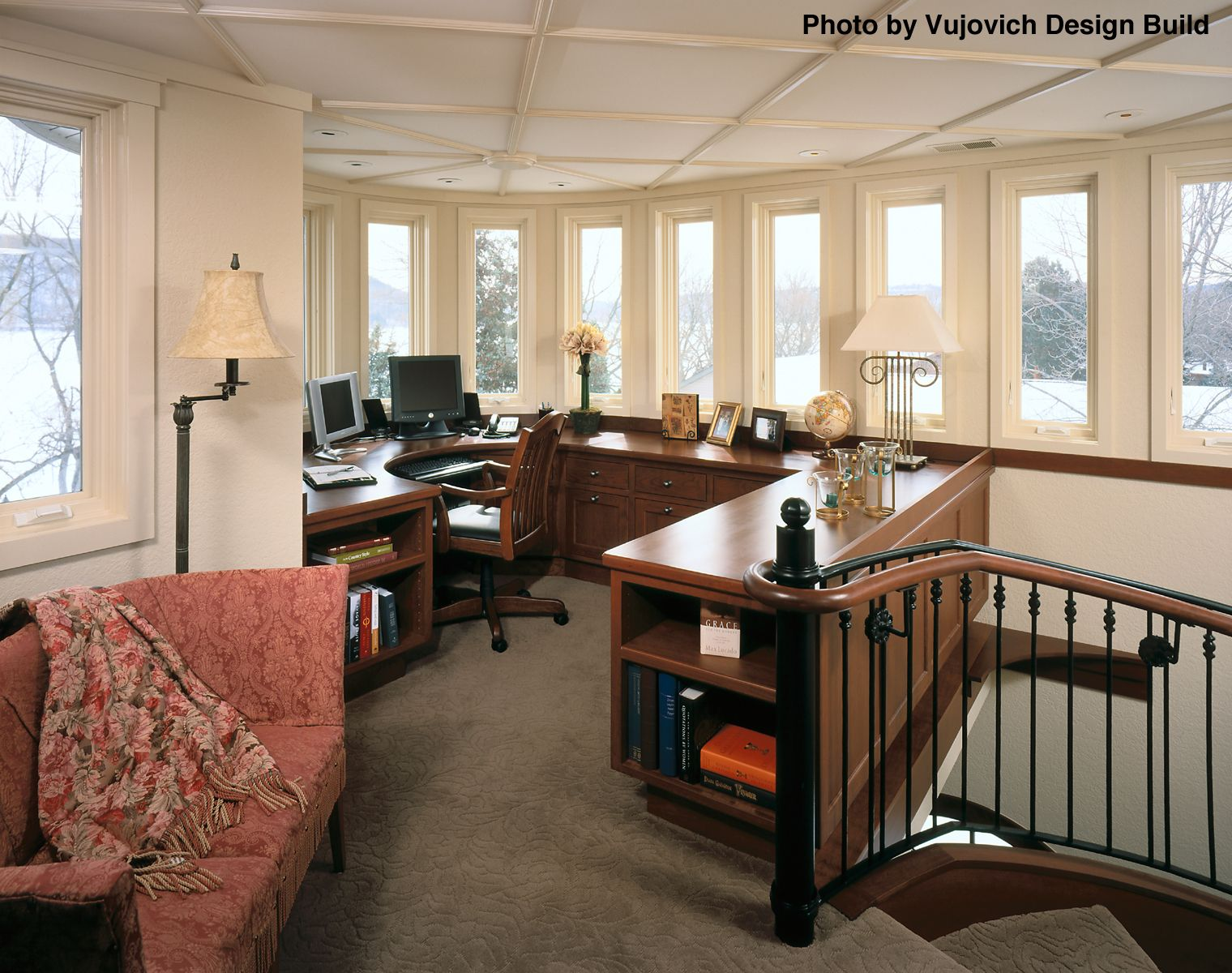 2018 Carpet Costs | Prices For New Carpeting, Stretching, Maintenance.  Traditional Home OfficesTraditional HomesOffice HomeLoft ...