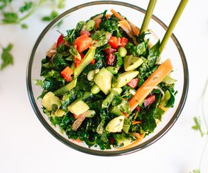 Chopped Kale Salad with Edamame, Carrot and Avocado - Cookie and Kate