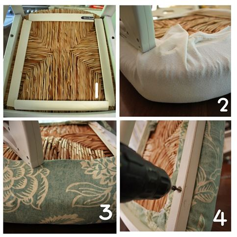 Dining Room Table Rush Seat Collage