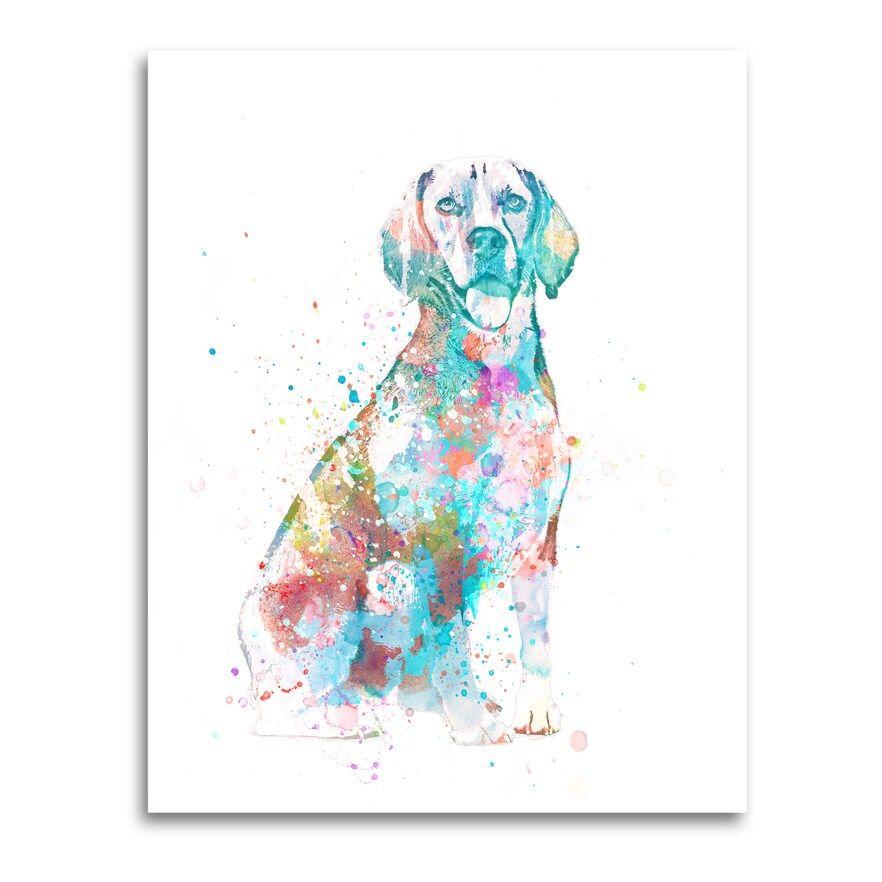 Beagle Watercolor Wall Art