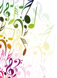 音符を並べた抽象的な背景の無料イラスト Music2019 音符