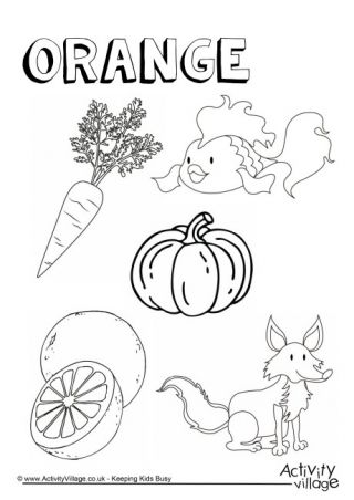 Colour Collection Colouring Pages Kindergarten Colors Preschool